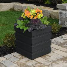Self Watering Patio Planters by Garden Planter Boxes Home Depot Home Outdoor Decoration