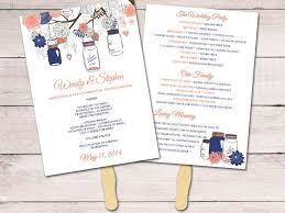 wedding program paddle fan template 92 best rustic weddings images on rustic weddings
