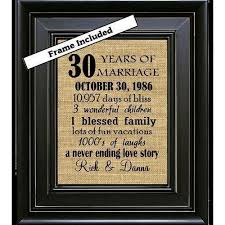 30 year anniversary gifts 30 year wedding anniversary gift ideas gift ideas