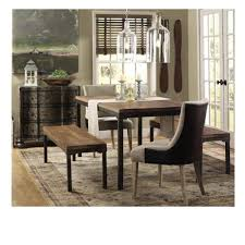 leather dining room sets home decorators collection becca brown linen and leather dining