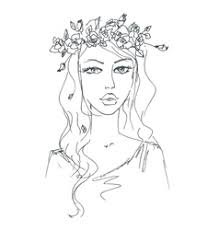 sketch hand drawn woman royalty free vector image