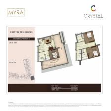 crystal residence 3 bedroom duplex type 01 floor plan