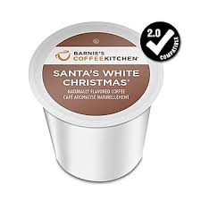 barnie s coffee kitchen santa s white single serve cup