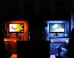 2 Monitor Computer Desk Desk Gaming Computer Desk Setup Impressive Cool Gaming Setups