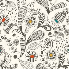vector spring seamless wallpaper spring floral pattern with