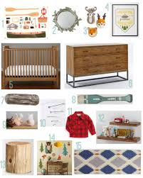 camp themed nursery rustic baby chic