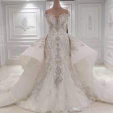 wedding dress with bling luxury dubai wedding dress plus size mermaid wedding gowns bling