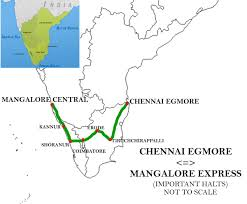 Chennai Metro Map by Chennai Egmore U2013mangalore Central Express Wikipedia