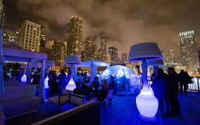Rooftop Chicago Bar Amp Lounge Io Urban Godfrey Hotel Luxury - Boston private dining rooms