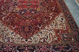 Antique Heriz Rug Antique Heriz Hand Woven In Persian Good Condition 7x10