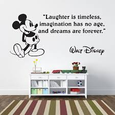mickey mouse laughter is timeless children s wall sticker vinyl mickey mouse laughter is timeless children s wall sticker vinyl mural wall art decor regular size amazon co uk kitchen home