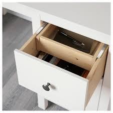 Solid Wood Desk Hemnes Desk White Stain 155x65 Cm Ikea