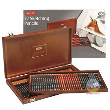 derwent sketching wooden box 72 pencil set