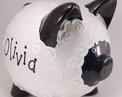 customized piggy bank baby piggy bank etsy