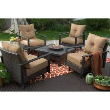 Patio Furniture Sets With Fire Pit by Belham Living Livingston All Weather Wicker 6 Piece Fire Pit Chat