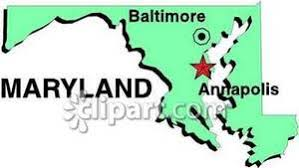 maryland map capital of maryland showing state capital of annapolis and the city of