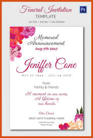 funeral invitation sle funeral invitation template songwol 64440f403f96