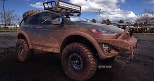 this lifted tesla model x render is the uber electric suv you u0027ve