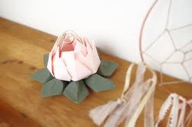 Porte Alliance Fleur Porte Alliances Pour Mariage Fleur De Lotus En Origami Rose