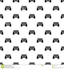 video game controller pattern simple style stock vector image