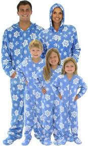 sleepytimepjs family matching blue snowflake fleece onesie