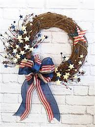Decorating Grapevine Wreaths For Christmas by Best 25 4th Of July Wreath Ideas On Pinterest 4th Of July