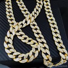 crystal rope necklace images Discount iced out bling rhinestone crystal goldgen finish miami jpg