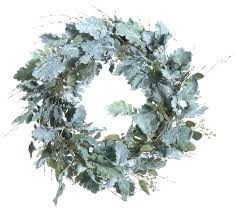 artificial dusty miller wreath modern wreaths and garlands