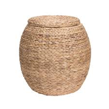 Wicker Floor Vase Amazon Com Household Essentials Large Round Water Hyacinth Wicker