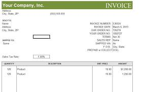Editable Invoice Template Excel Commercial Invoice Template Excel Rabitah