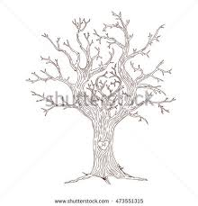Wish Tree Wedding Wish Tree Guests Fingerprints Heart Stock Vector 473551315