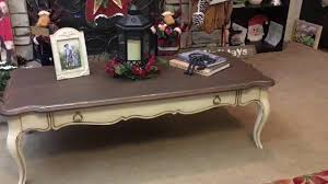 vintage distressed french country coffee table youtube