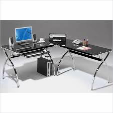 techni mobili double pedestal laminate computer desk chocolate techni mobili l shaped glass desk with chrome frame in black