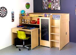 Bed And Desk Combo Furniture Wooden Bunk Beds With Desk Diy Loft Plans Under Combo Ikea Buy