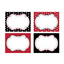 minnie mouse red printable food labels