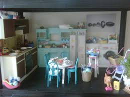 barbie doll house diorama washing machine and blue kitchen u2026 flickr