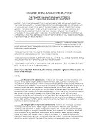 Durable Power Of Attorney Forms by New Jersey Power Of Attorney Form Free Templates In Pdf Word