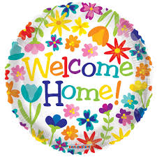 welcome home balloon bouquet 18 sided printed welcome home mylar balloon