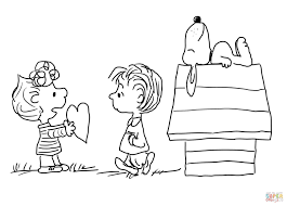 charlie brown valentine u0027s day coloring page free printable