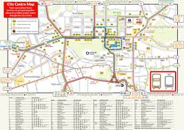 Transport Map Edinburgh Map Central Edinburgh Bus And Tram Map To Download