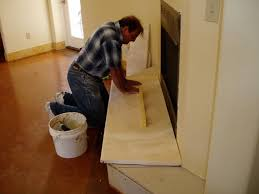 Travertine Fireplace Hearth - finding a stone mason installer to build your natural stone