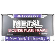 ohio alumni license plate frame violets alumni metal license plate frame w domed insert