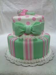 pink green and white baby shower cake cakecentral com
