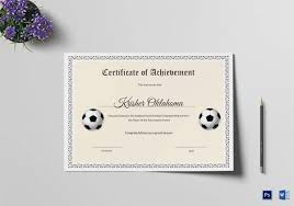 football certificate template 16 download documents in pdf