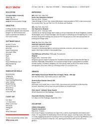 Resume Affiliations Resume U2014 Billy Snow