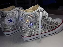 wedding shoes converse converse all wedge sneakers heels bling crystals wedding
