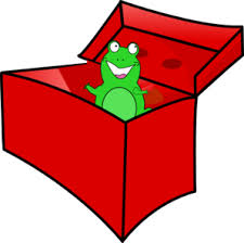 frog in the box clip at clker vector clip