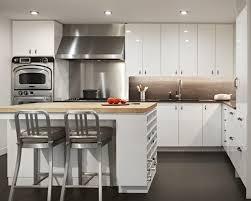kitchen island stools l shaped white wood cabinet chrome single