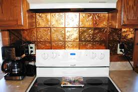 decor u0026 tips interesting copper tin backsplash tile with cooktop
