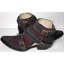 womens boots size 8 jade burgundy gray leather booties s boots size 8